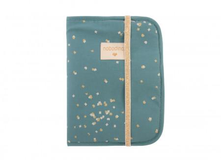 Poema Health Booklet A5 gold confetti/ magic green