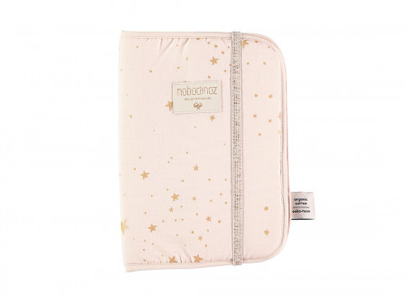 Poema health booklet sleeves A5 24x18 gold stella/ dream pink