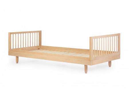 Oak wood single bed • Pure