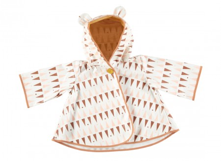 Raincoat Venezia pink terracota triangles