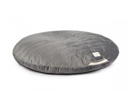 Sahara floor cushion • velvet slate grey