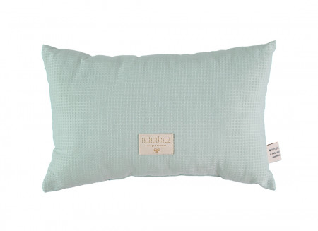 Laurel cushion honey comb 22x35 aqua