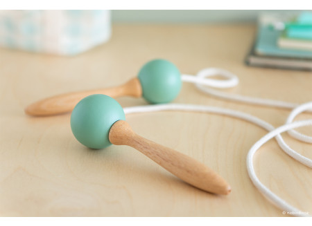 Wooden Skipping rope • green
