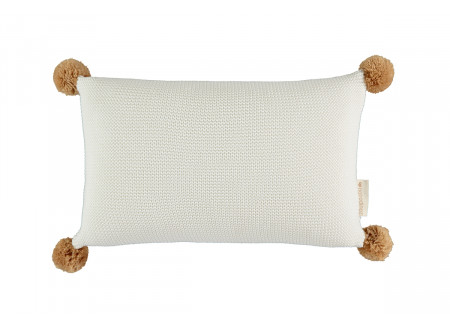 So Natural knitted cushion • milk