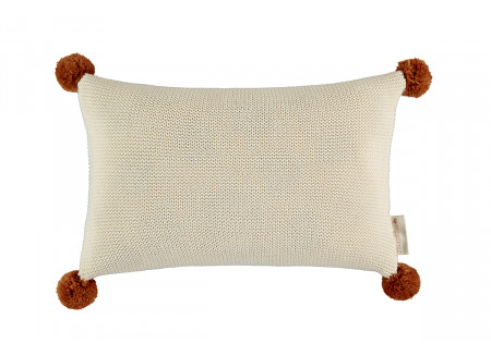 So Natural knitted cushion • natural
