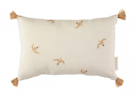Sublim cushion • nude haiku birds natural