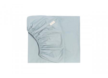 Tibet fitted sheet • soft blue