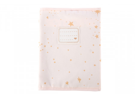 Too Cool book sleeve A5 gold stella/ dream pink