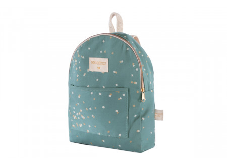 Too Cool mini backpack gold confetti/ magic green