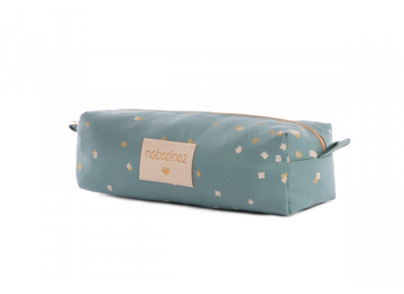 Too Cool pencil case gold confetti/ magic green