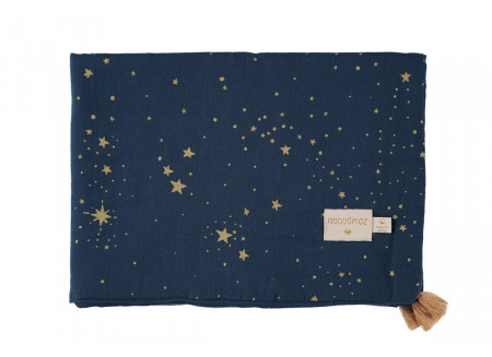 Treasure summer blanket gold stella night blue