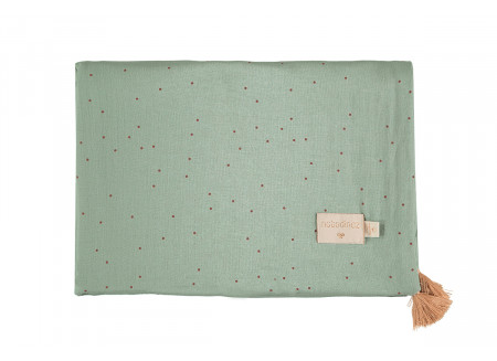 Treasure summer blanket toffee sweet dots eden green