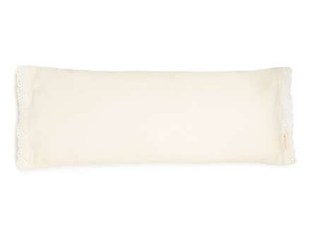 Vera Eyelet Lace large cushion • natural