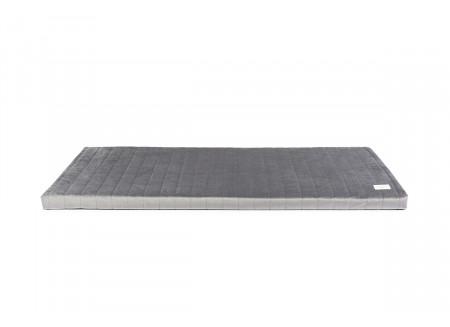 Zanzibar play mattress • velvet slate grey