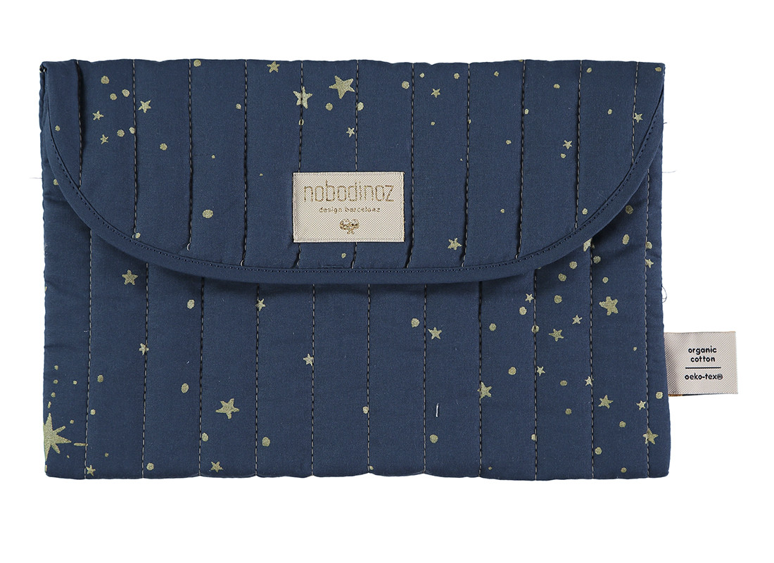 Bagatelle pouch 19x27 gold stella/ night blue