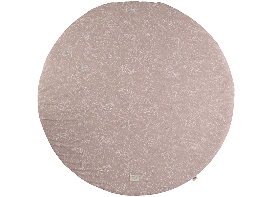 Full Moon play mat white bubble/ misty pink - 2 sizes
