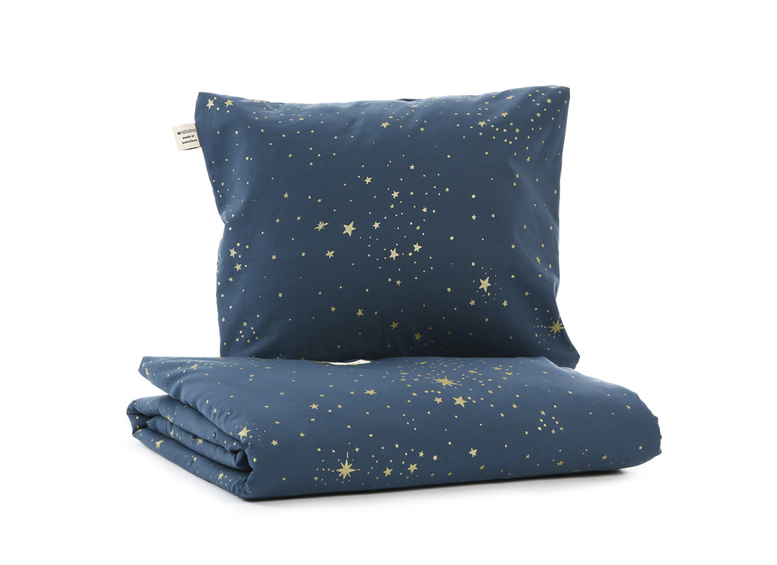 Himalaya duvet cover • gold stella night blue