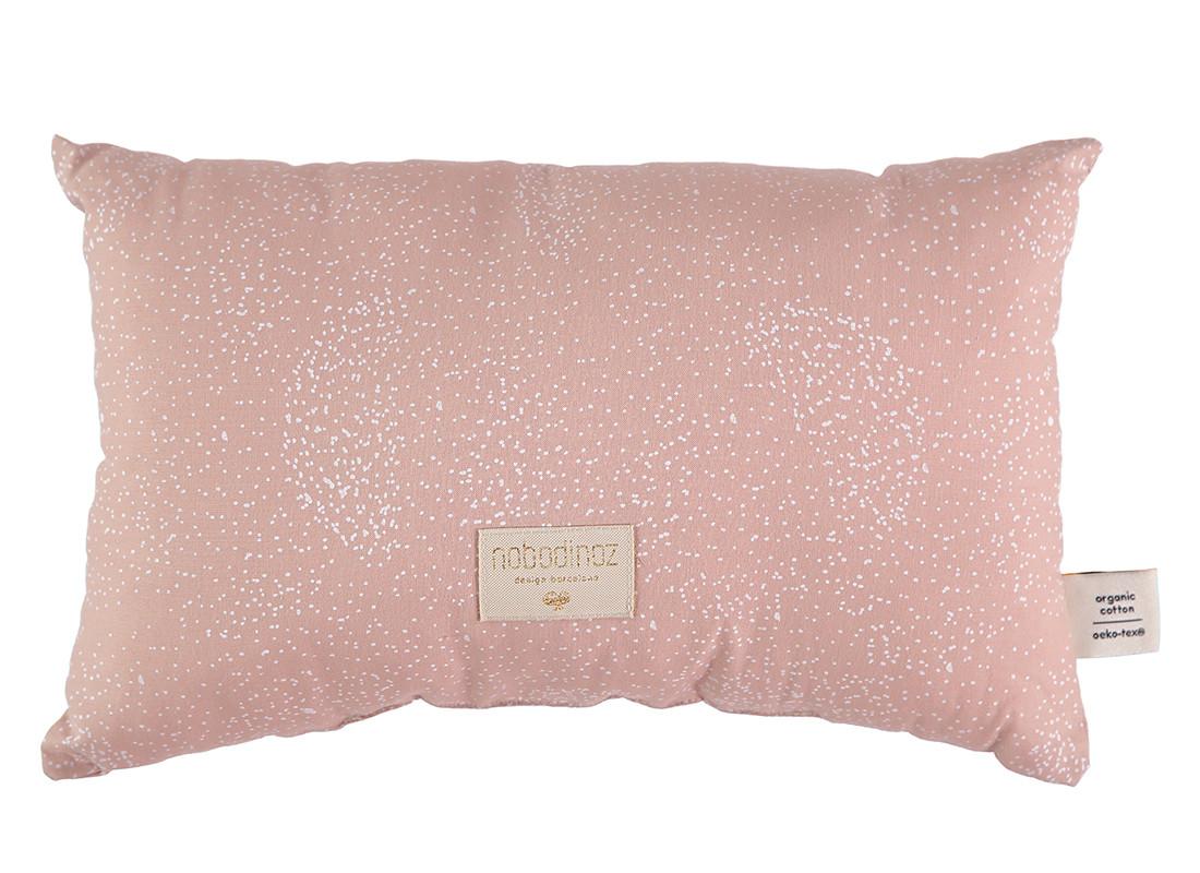 Laurel cushion 22x35 white bubble/ misty pink