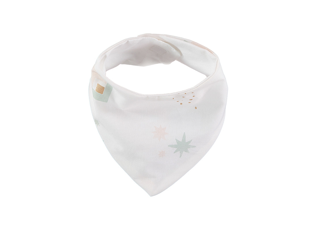 Lucky bandana bib 16x43 aqua eclipse/ white