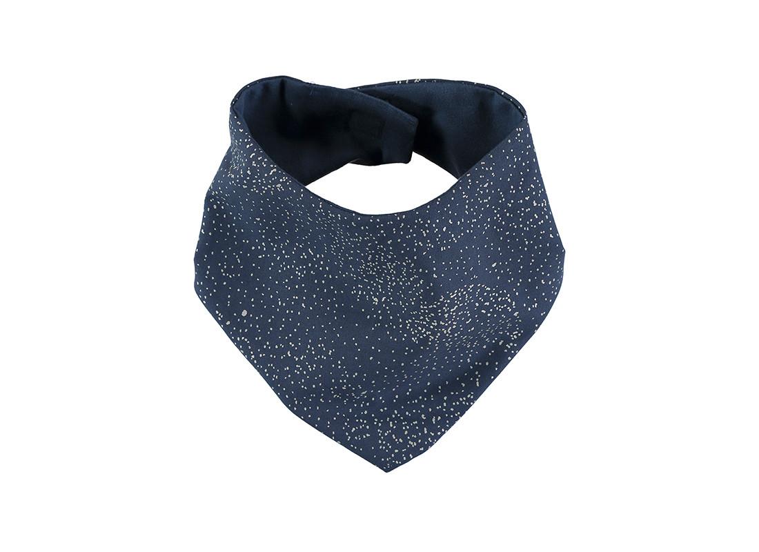 Lucky bandana bib 16x43 gold bubble/ night blue