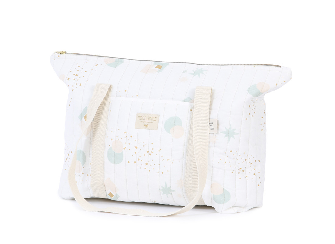Paris maternity bag 34x50x12 aqua eclipse/ white
