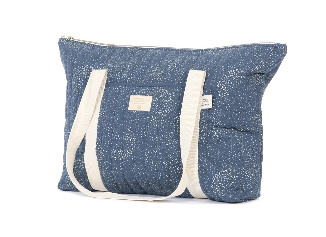 Paris maternity bag 34x50x12 gold bubble/ night blue