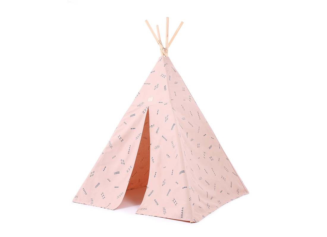 Phoenix teepee • blue secrets misty pink