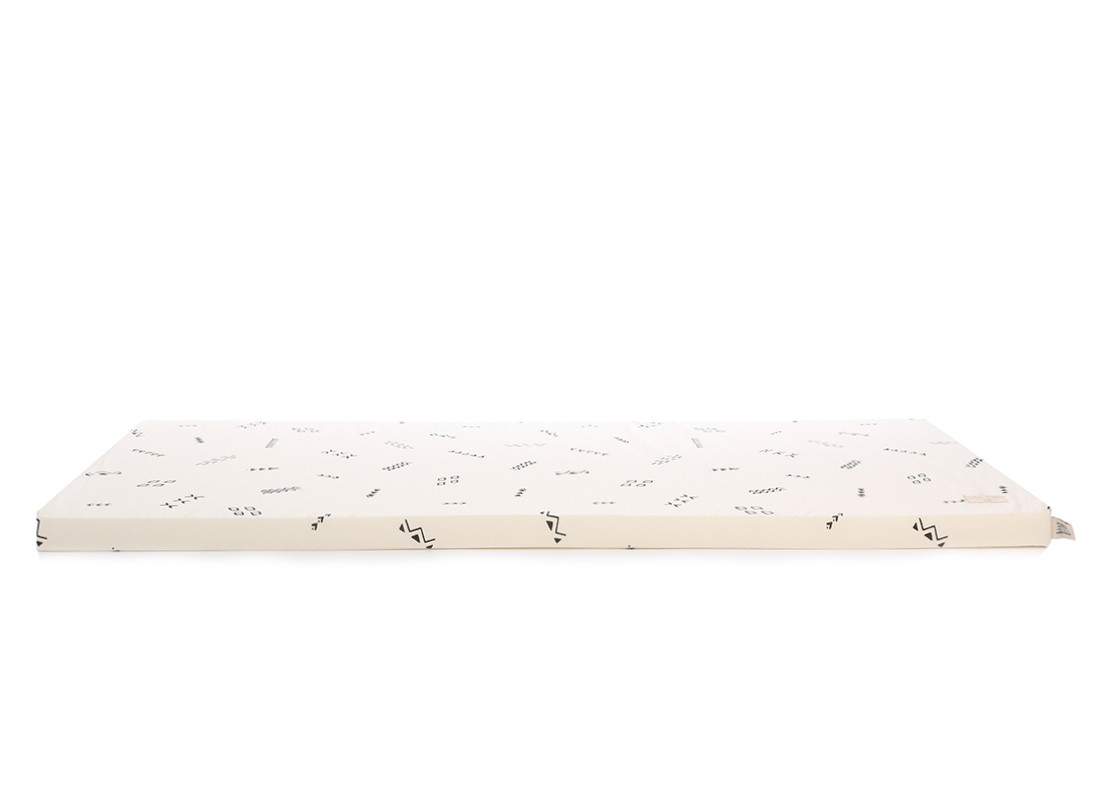 Saint Barth floor mattress 60X120X4 black secrets/ natural