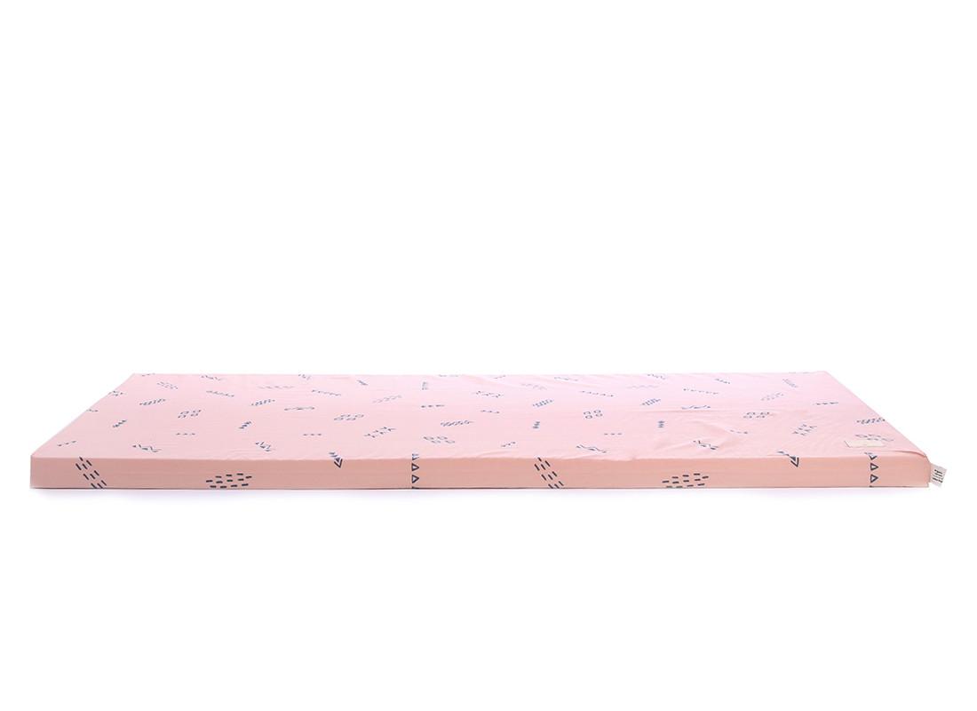 Saint Barth floor mattress 60X120X4 blue secrets/ misty pink