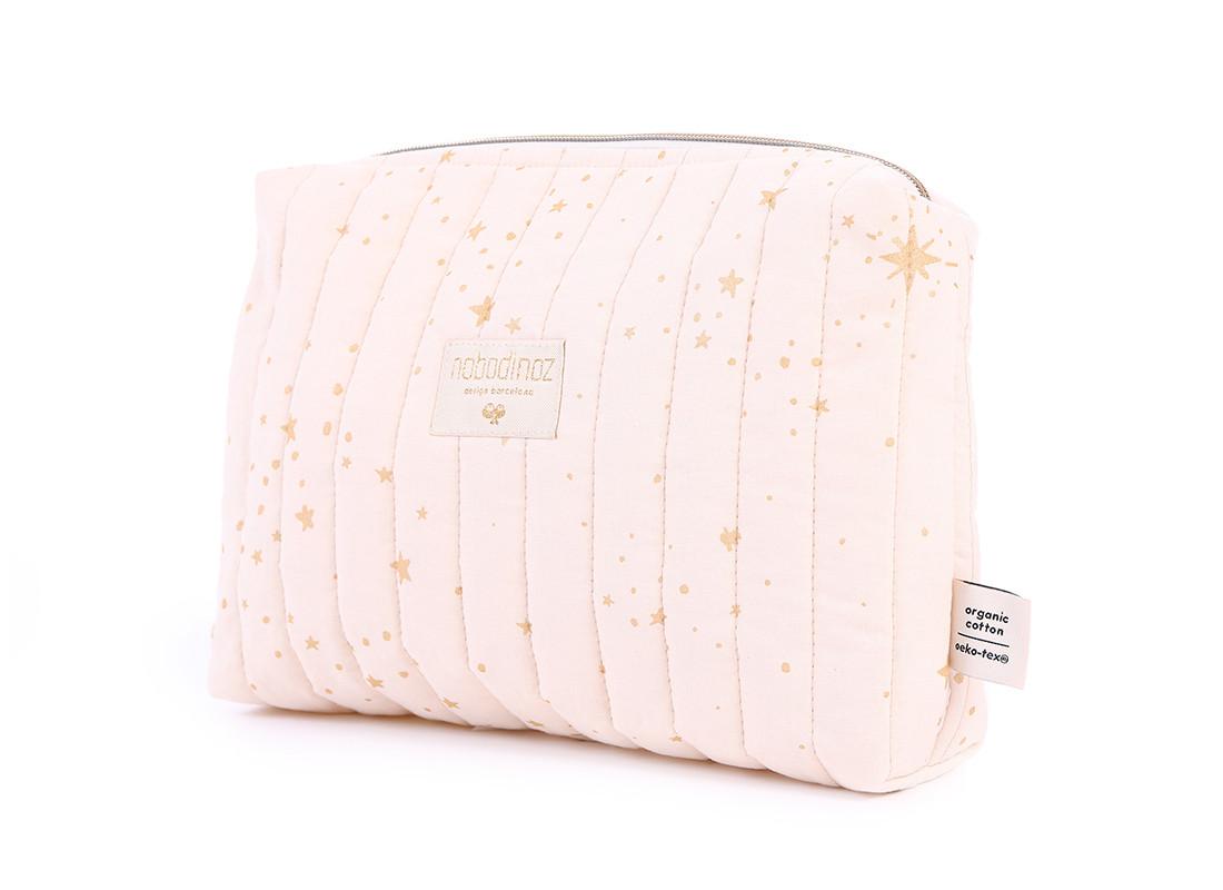 Travel vanity case 18x25x7 gold stella/ dream pink