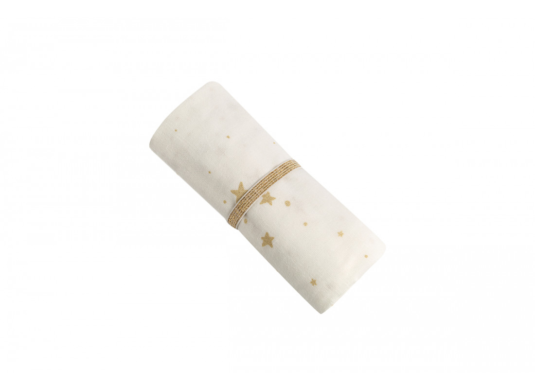 Baby Love swaddle • gold stella white