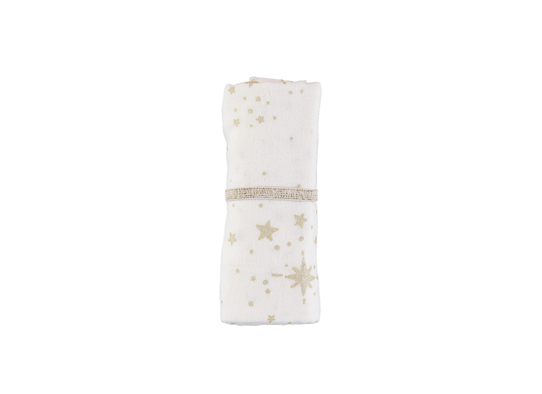 Baby Love swaddle gold stella white