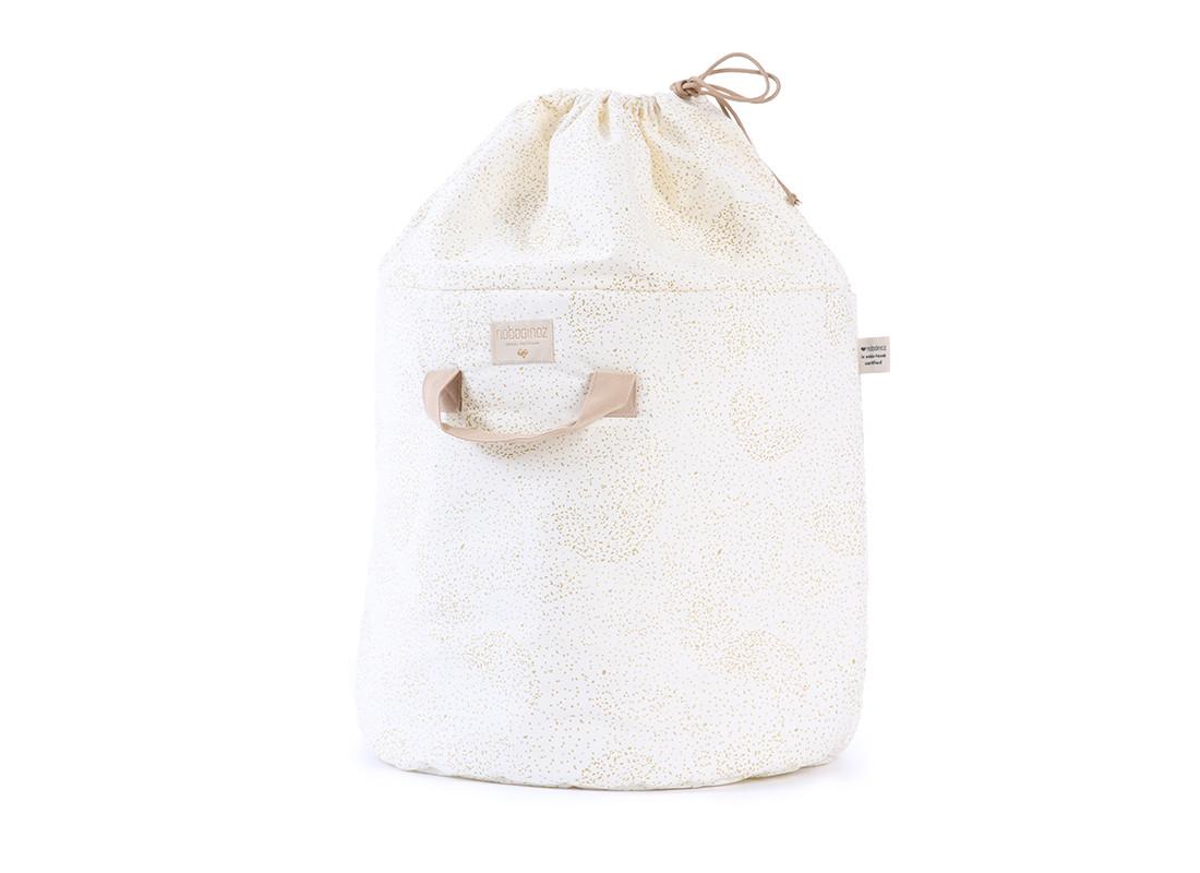 Bamboo toy bag gold bubble/ white - 2 sizes