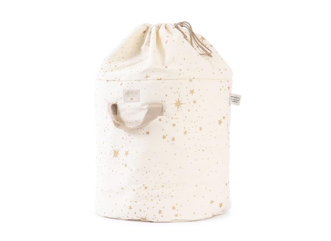 Bamboo toy bag gold stella/ natural - 2 sizes