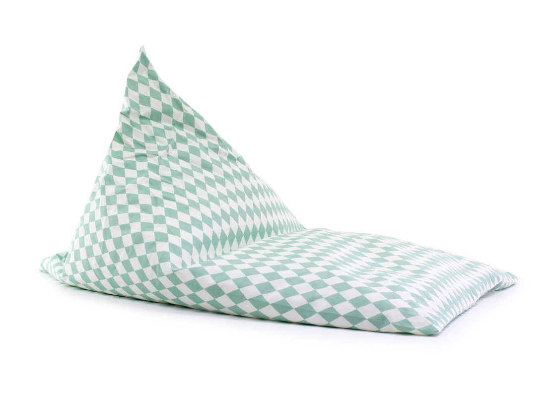 Essaouira kid beanbag • green diamonds