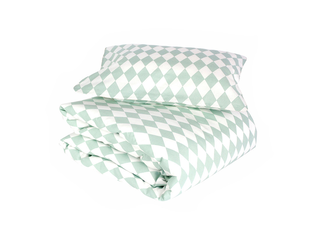 Toronto duvet green diamonds - 2 sizes