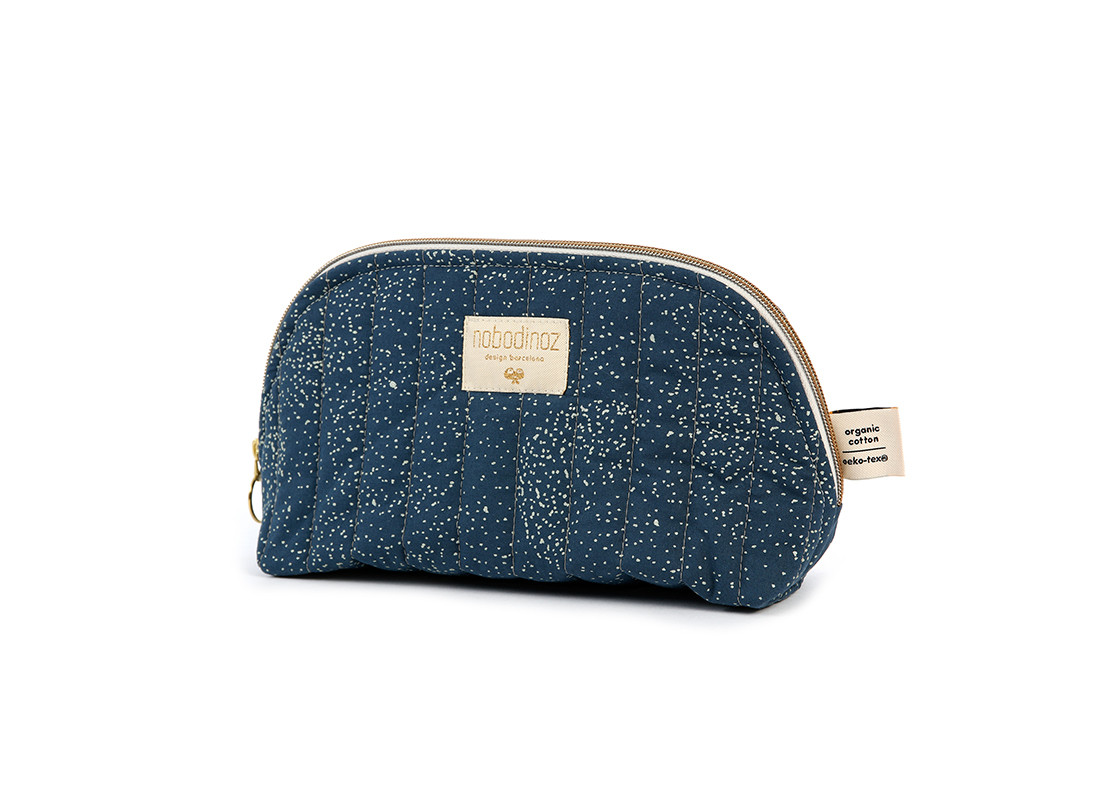 Holiday vanity case gold bubble/ night blue - 2 sizes