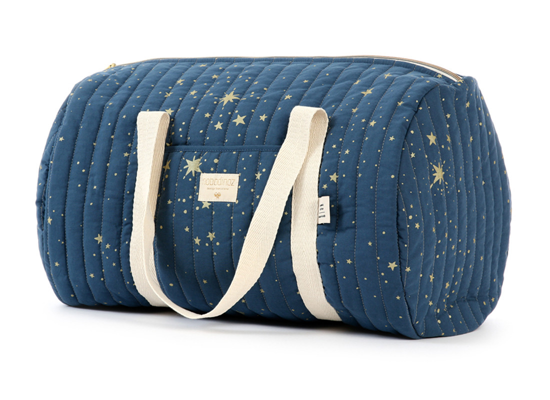 New York weekend bag • gold stella night blue