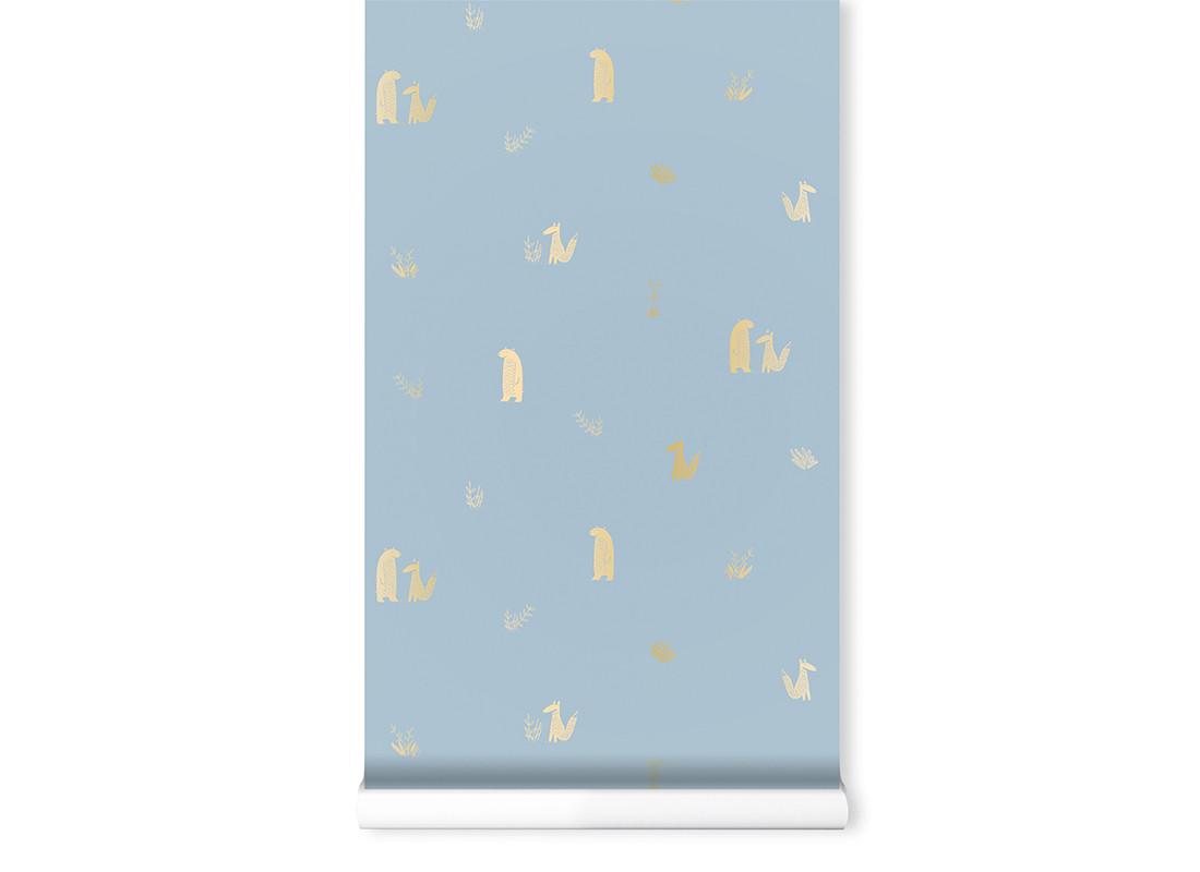 Wallpaper Jon&June 130gsm 52x1005cm blue
