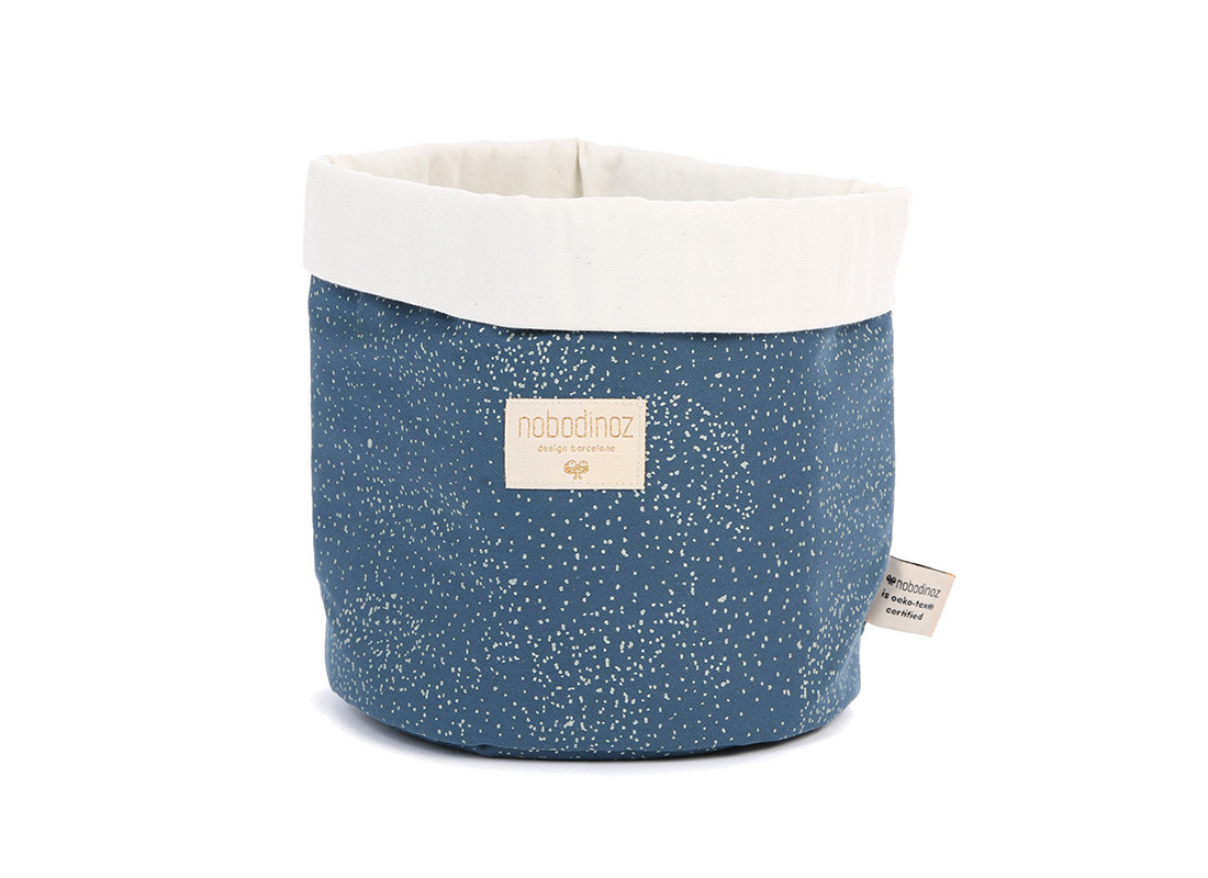 Panda basket gold bubble/ night blue - 3 sizes
