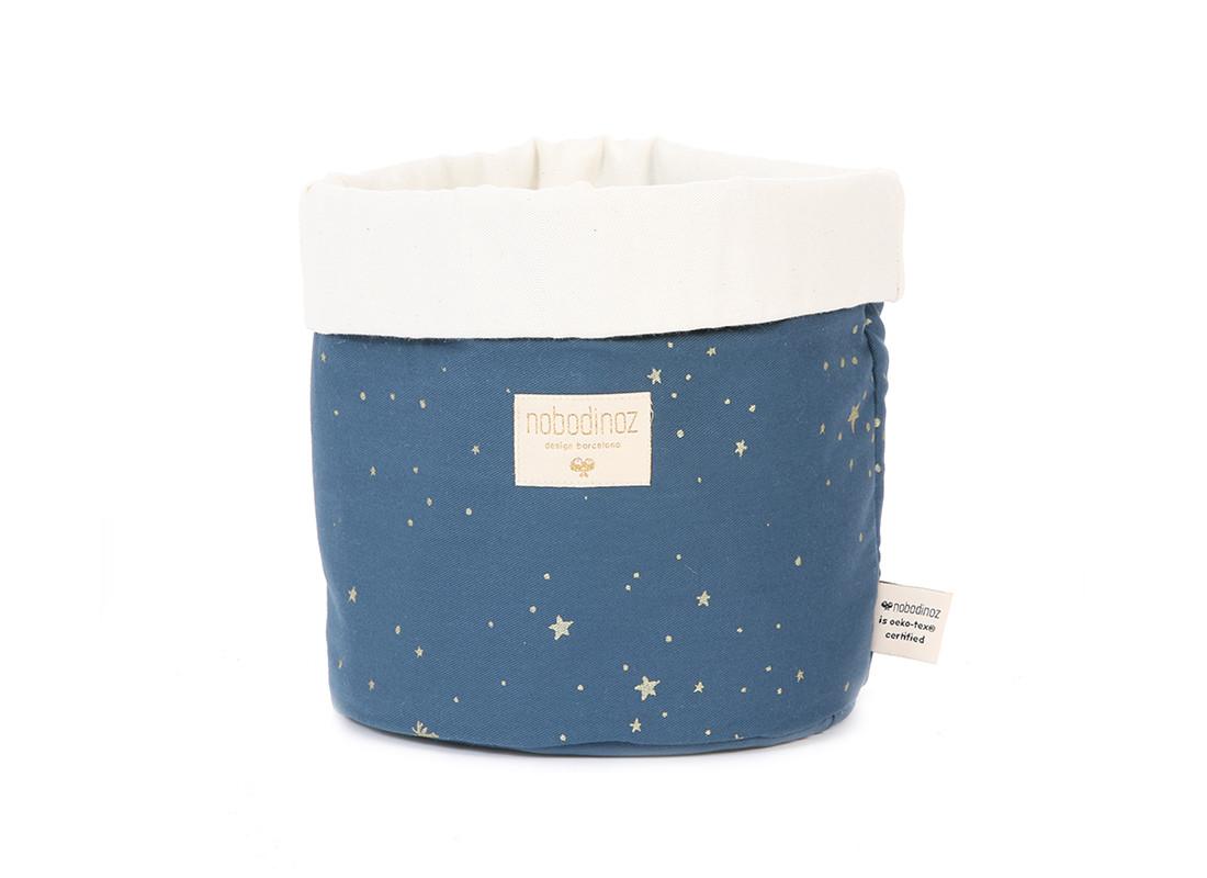 Panda basket • gold stella night blue