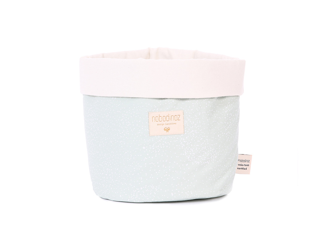 Panda basket white bubble/ aqua - 3 sizes