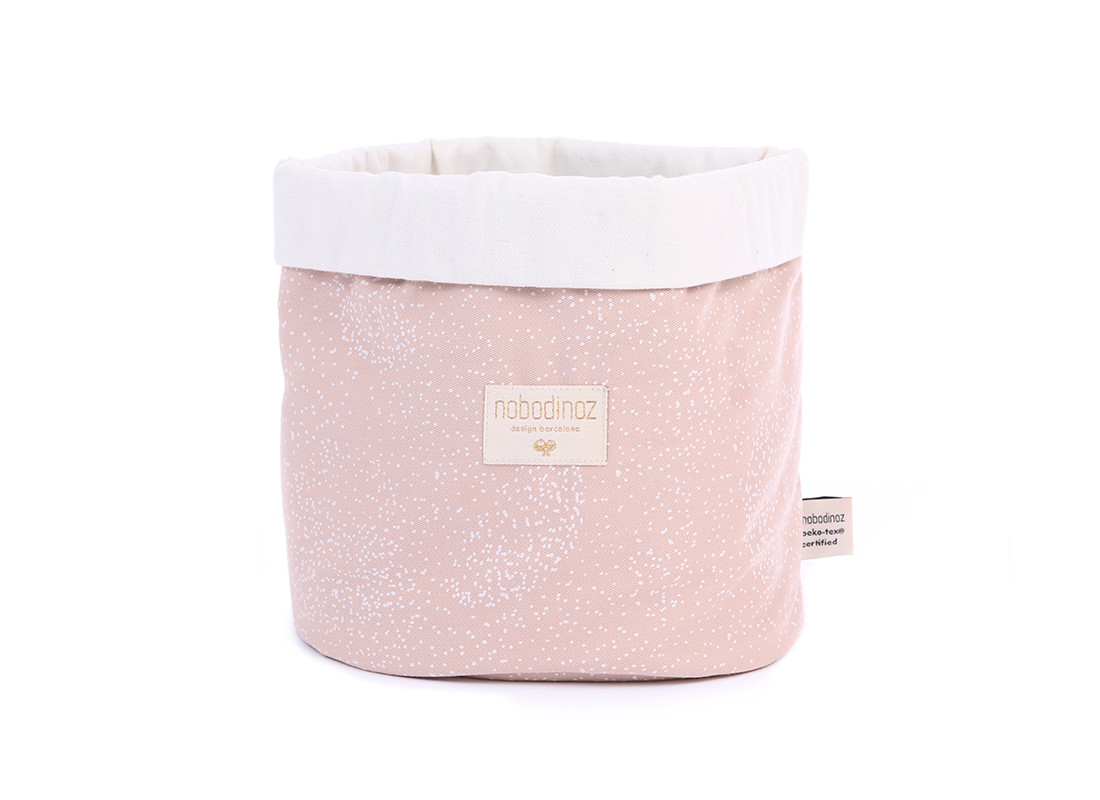 Panda basket white bubble/ misty pink - 3 sizes