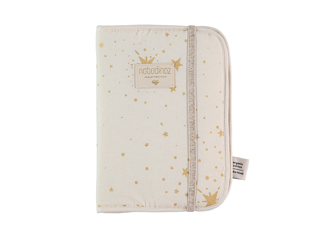 Poema health booklet sleeves A5 24x18 gold stella/ natural