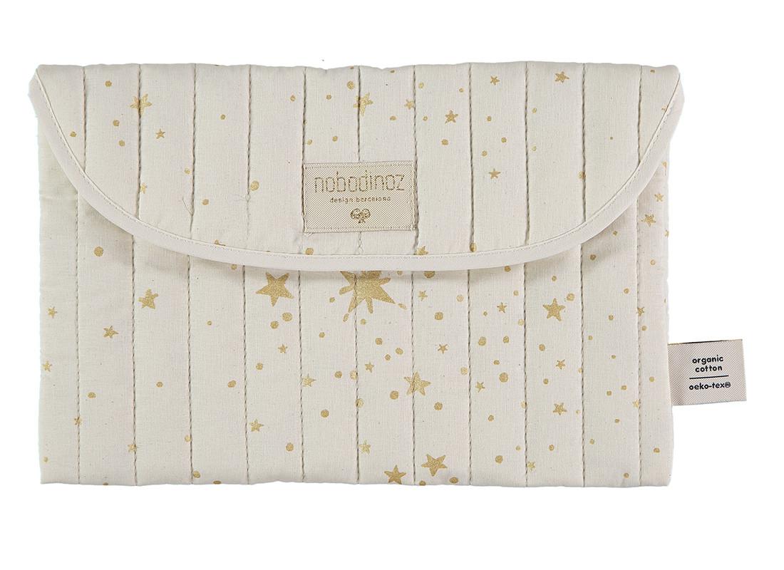 Pochette Bagatelle 19x27 gold stella/ natural