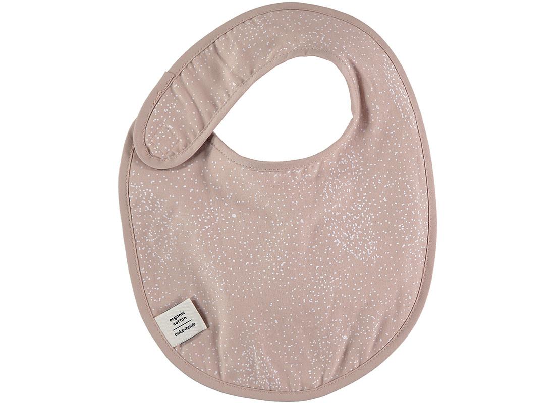 Bavoir Candy 34x26 white bubble/ misty pink
