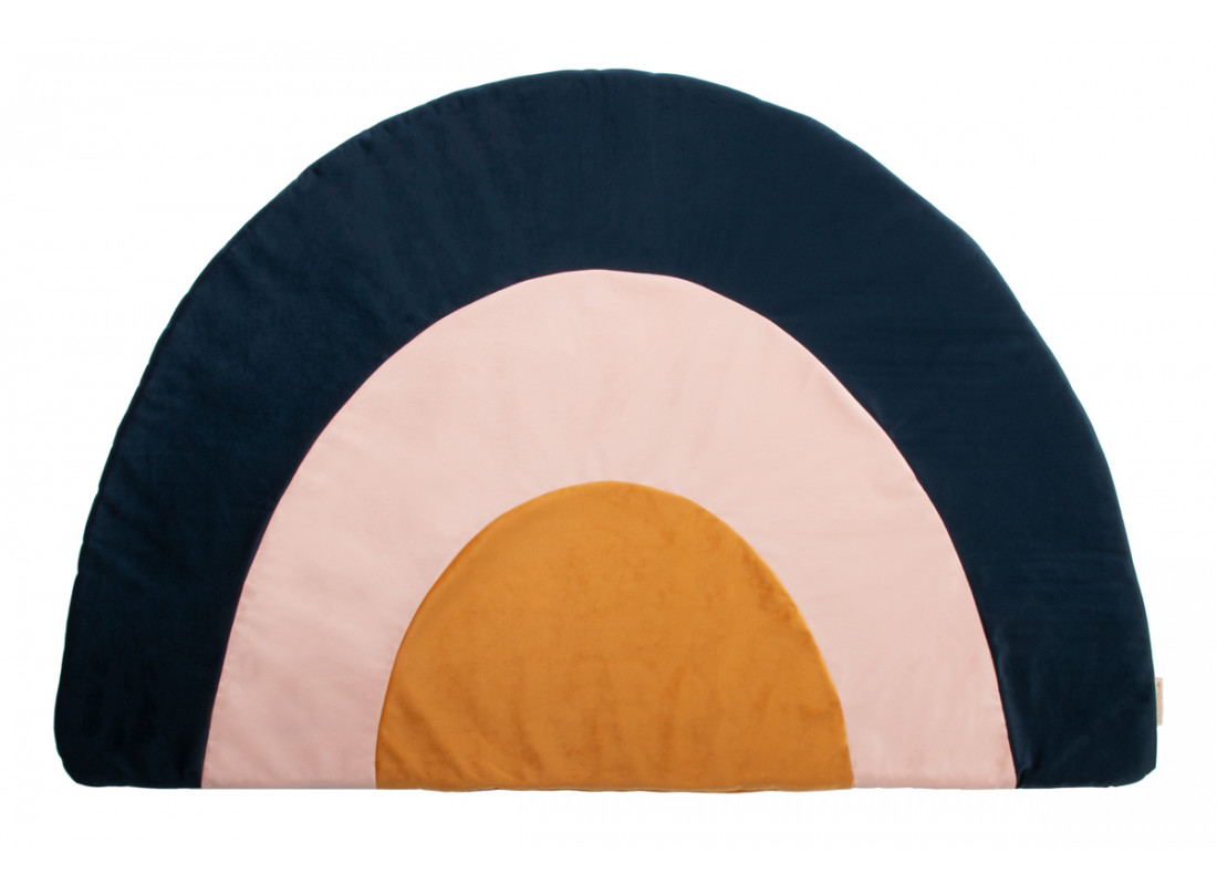 Rainbow velvet carpet night blue