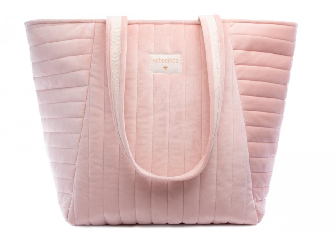 Savanna velvet Maternity Bag bloom pink