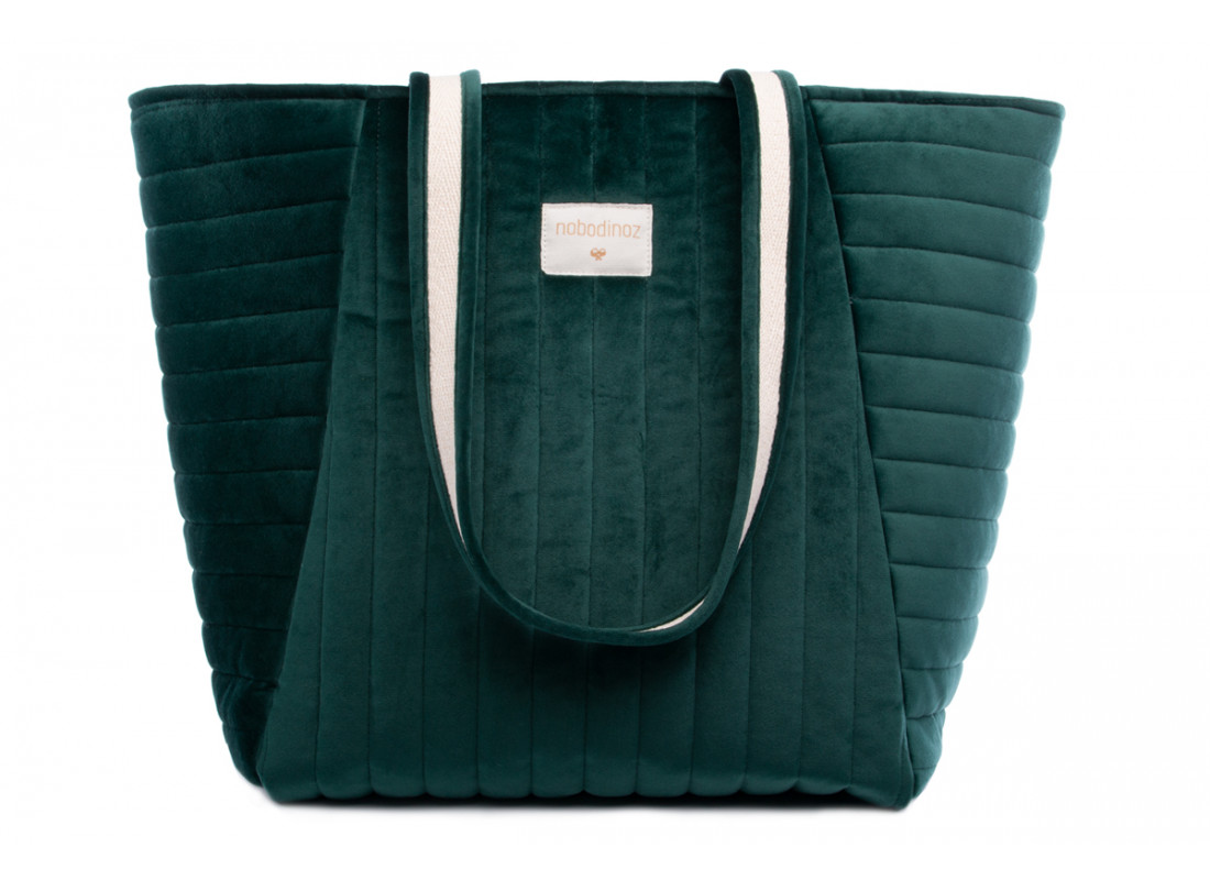 Savanna velvet Maternity Bag jungle green