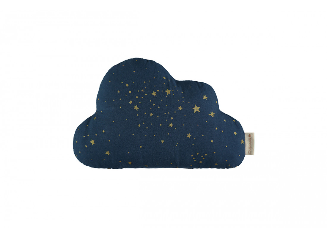 Coussin Cloud gold stella night blue